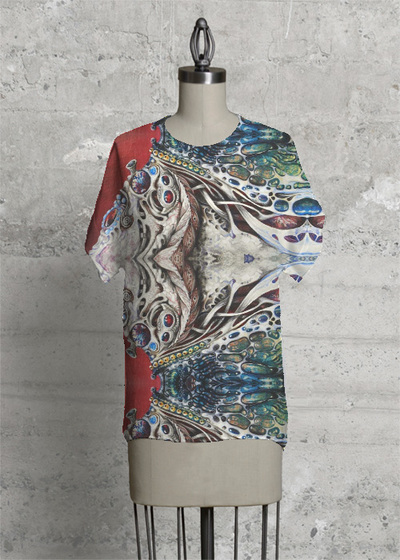 Modern Tee - Blue Eyes by VIDA VIDA For Nice Cheap Price Outlet Inexpensive Free Shipping Clearance Clearance Many Kinds Of 6QMBlFo