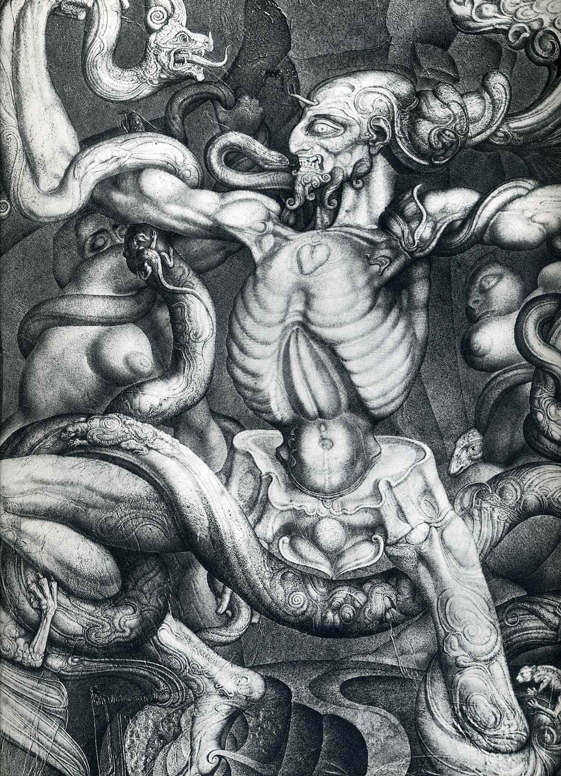 Ernst Fuchs, The Anti-Laokoon, 1965