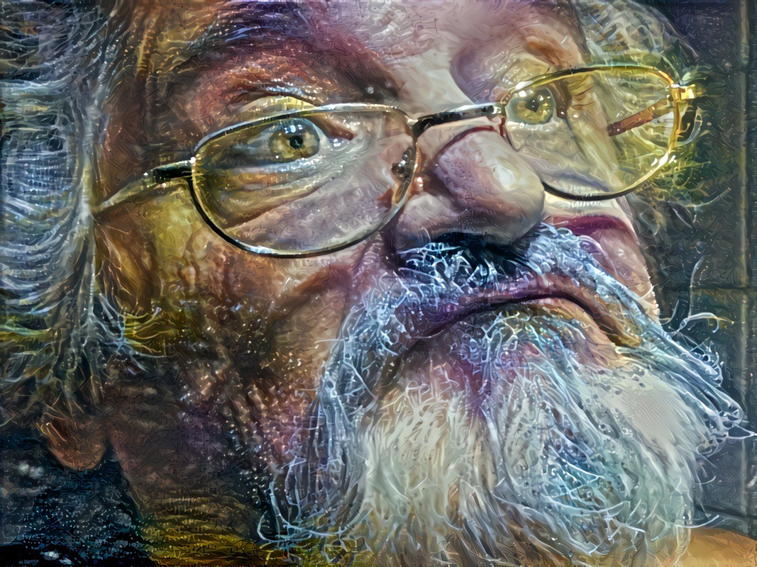 Selfie in Deep Dream by OTTO RAPP