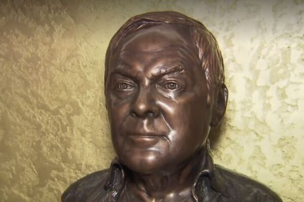 Carl Schell - portrait sculpture by Caroline Schell